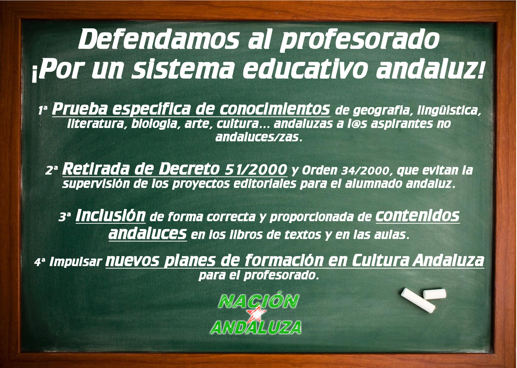 Defendamos al profesorado andaluz ¡Por un sistema educativo andaluz!