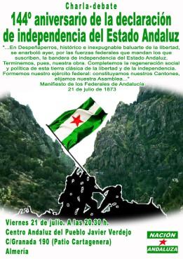 despeña bandera Almería