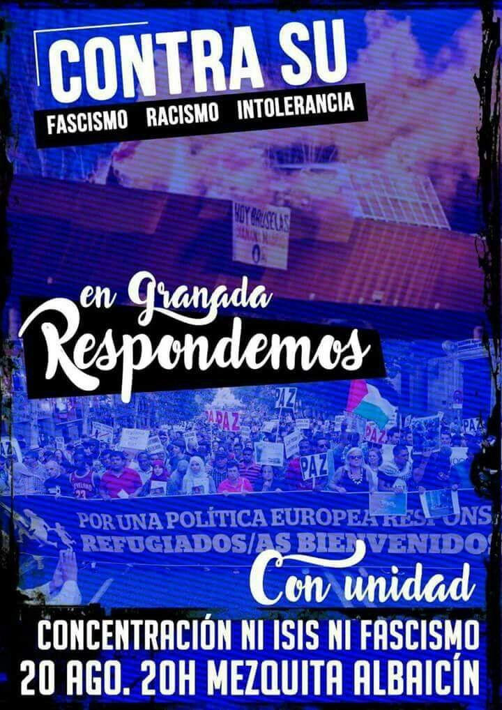 Nación Andaluza contra el terrorismo yihadista, la islamofobia, el racismo y el españolismo