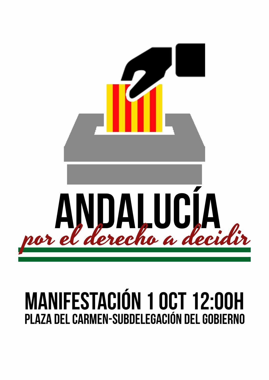 """Manifestación """"Andalucía por el derecho a decidir"""""""