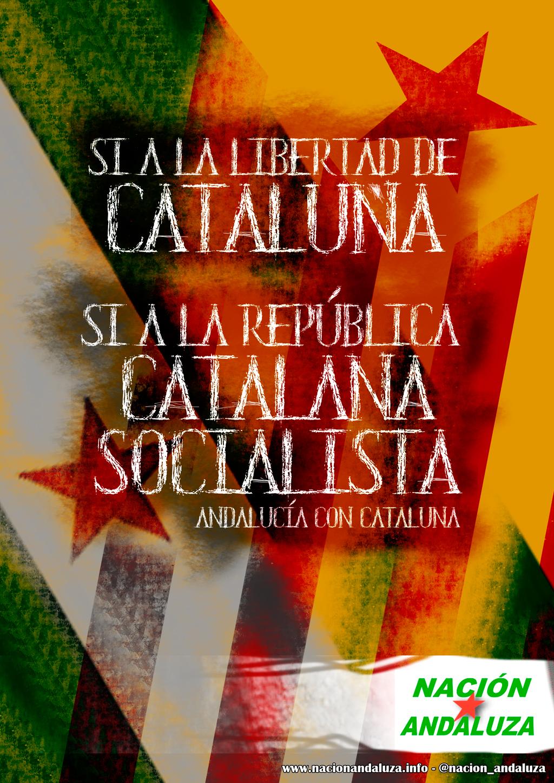 ¡Alto a la represión española contra el gobierno de la República Catalana! ¡El Pueblo Trabajador Andaluz con Catalunya!