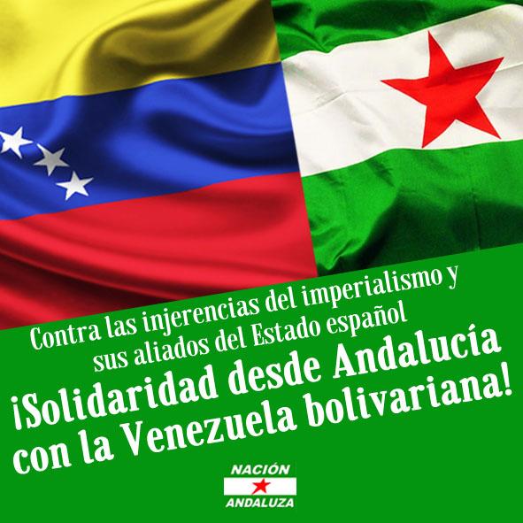 Nación Andaluza con la lucha del Pueblo Venezolano
