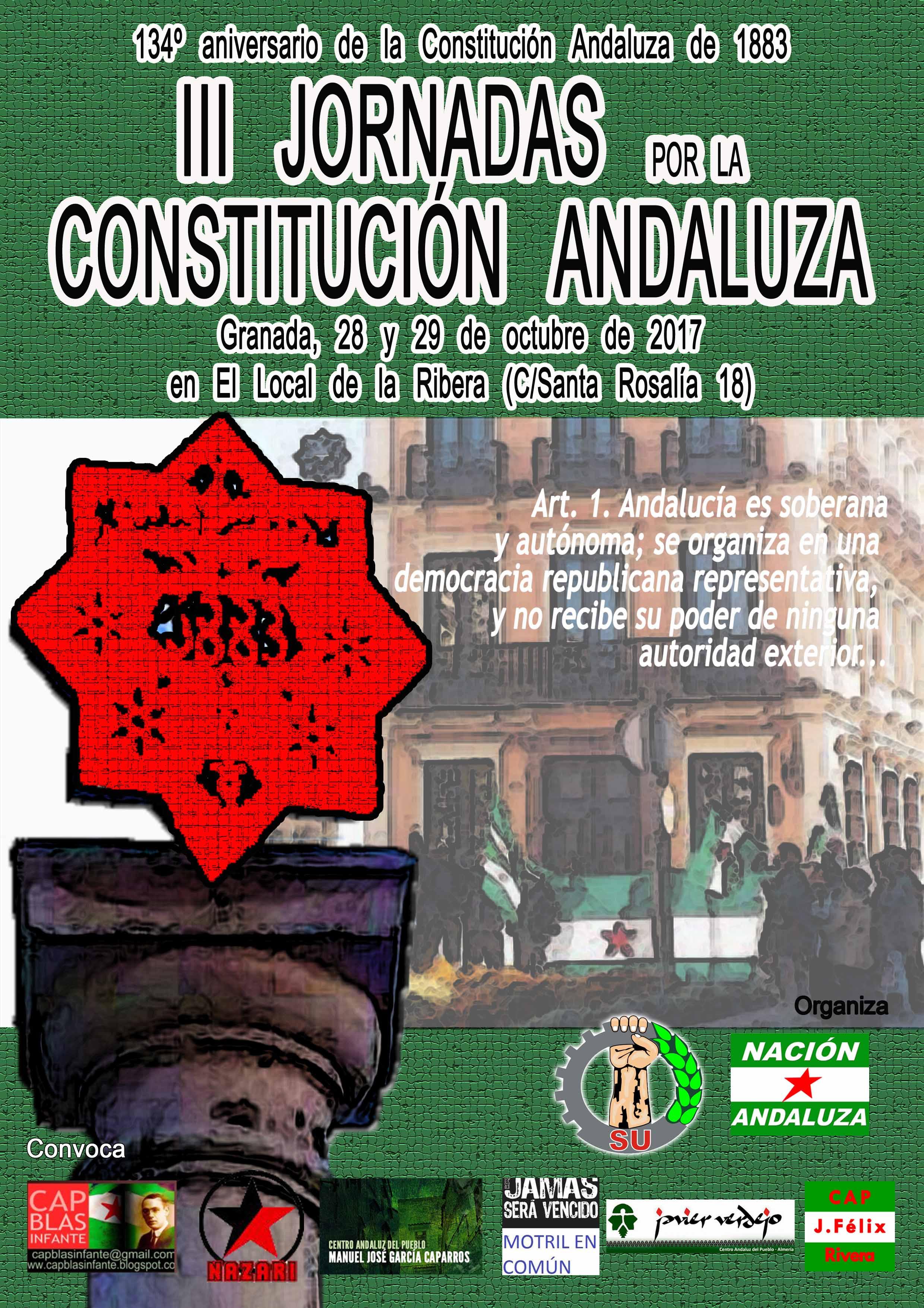 III Jornadas por la Constitución Andaluza