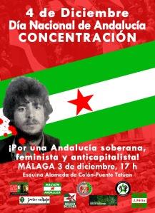 Málaga, 3 de diciembre. A las 17 h. Esquina Alameda de Colón-Puente Tetuán