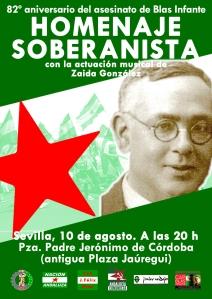 Homenaje soberanista en el 82º aniversario del asesinato de Blas Infante (2018)