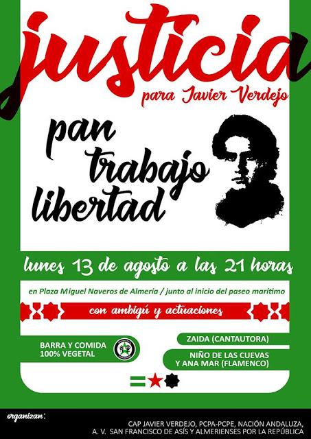 Nación Andaluza ante el 42º aniversario del asesinato de Javier Verdejo