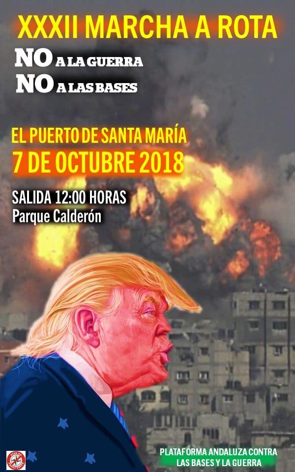 Nación Andaluza ante la XXXIII marcha contra la base militar de Rota