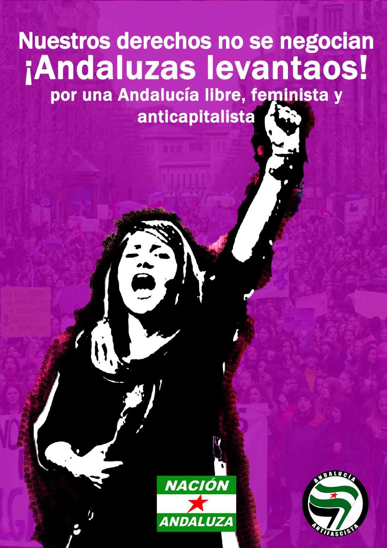 Nación Andaluza ante la movilización feminista del 15E: ¡Andaluzas levantaos contra el patriarcado!
