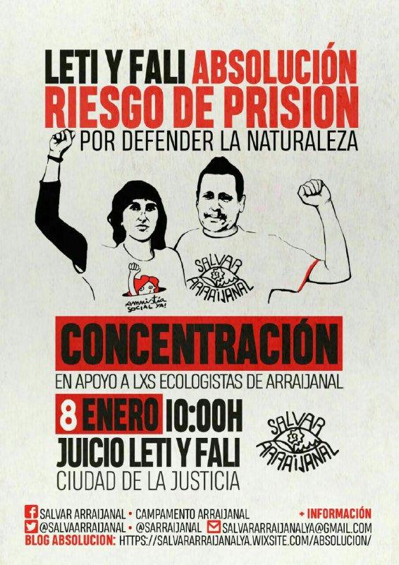 Nación Andaluza ante el procesamiento de Leti y Fali ¡Absolución de Leti y Fali! ¡Salvemos Arraijanal!