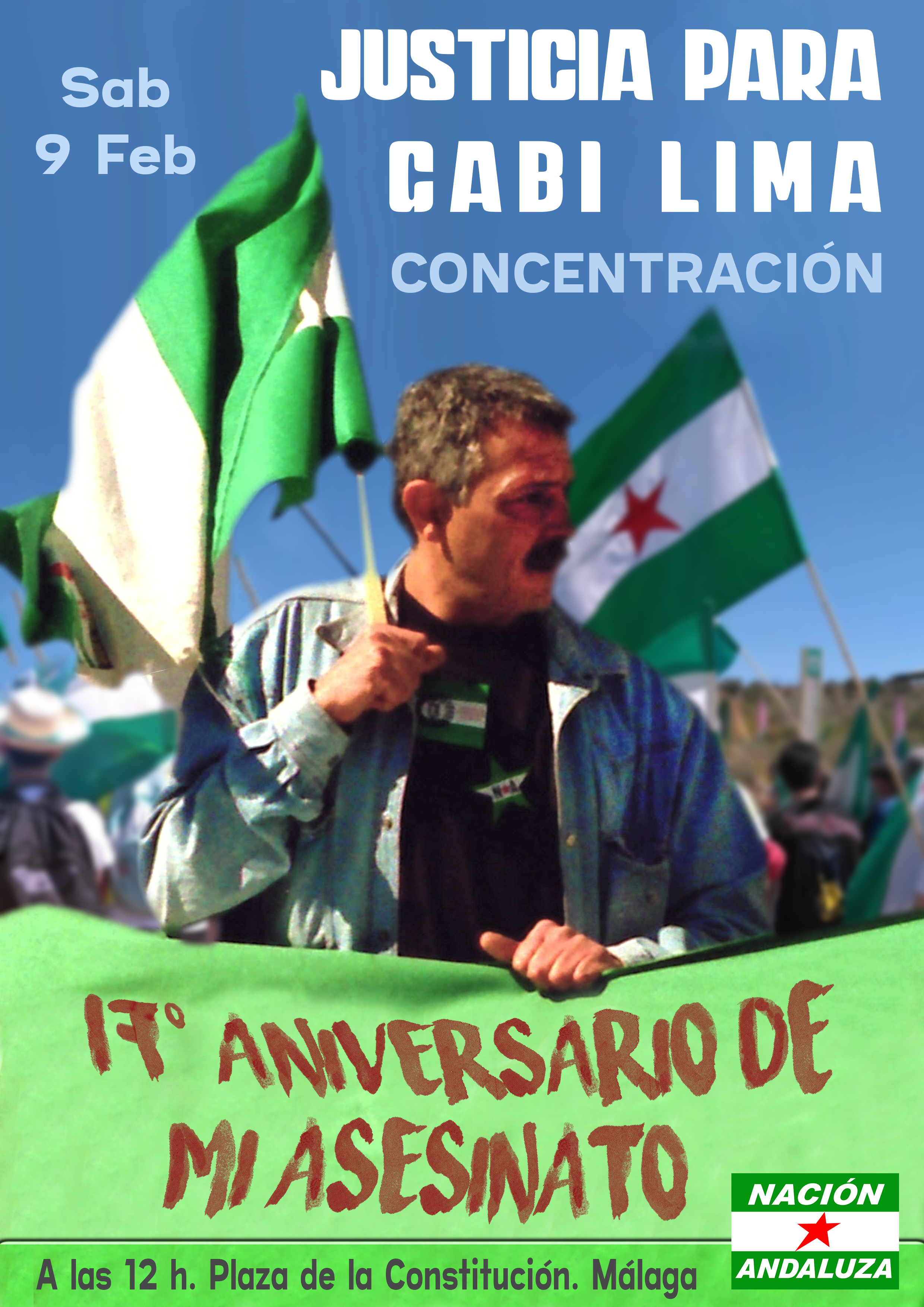 Nación Andaluza ante el 17º aniversario del asesinato del independentista y revolucionario andaluz Gabriel Lima Tirado ¡Justicia para Gabi Lima!