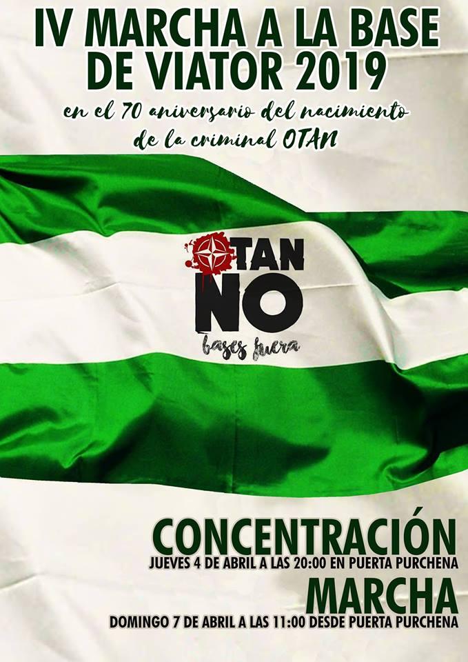 Nación Andaluza ante la IV marcha a la base de Viator. Por la desmilitarización de Andalucía ¡Ni OTAN ni Viator ni ejército español!