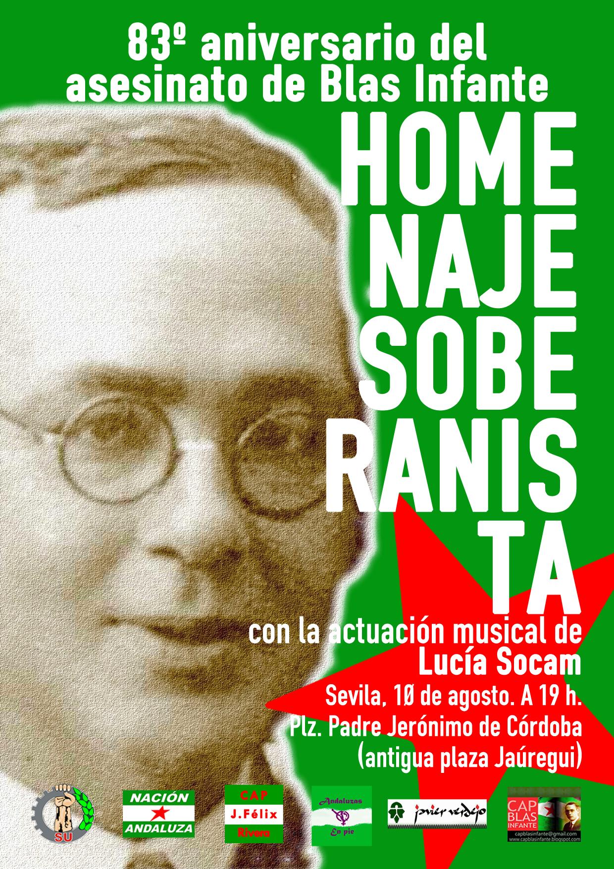 Nación Andaluza ante el 83º aniversario del asesinato de Blas Infante ¡CONSTRUYENDO ANDALUCISMO REVOLUCIONARIO PARA UNA ANDALUCÍA INDEPENDIENTE!