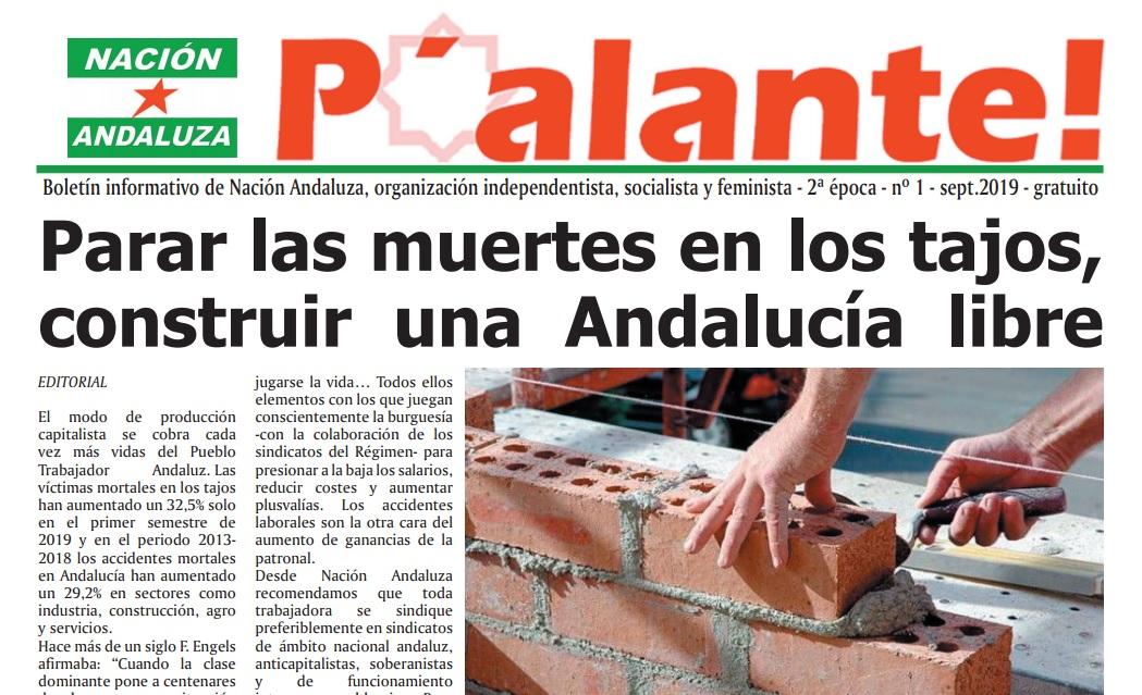 De nuevo el boletín informativo de agitación política P'alante en la calle