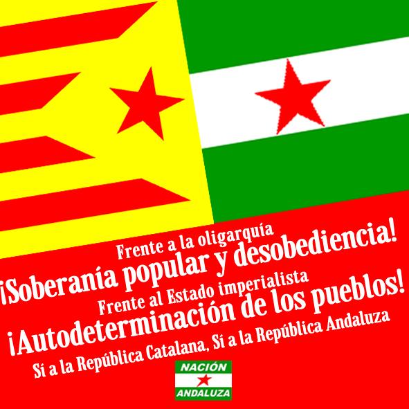 Nación Andaluza ante la nueva andanada judicial contra la CUP ¡Andalucía con Catalunya!