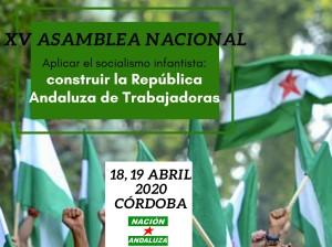 """""""Aplicar el socialismo infantista: construir la República Andaluza de Trabajadoras"""" Córdoba, 18 y 19 de abril de 2020."""