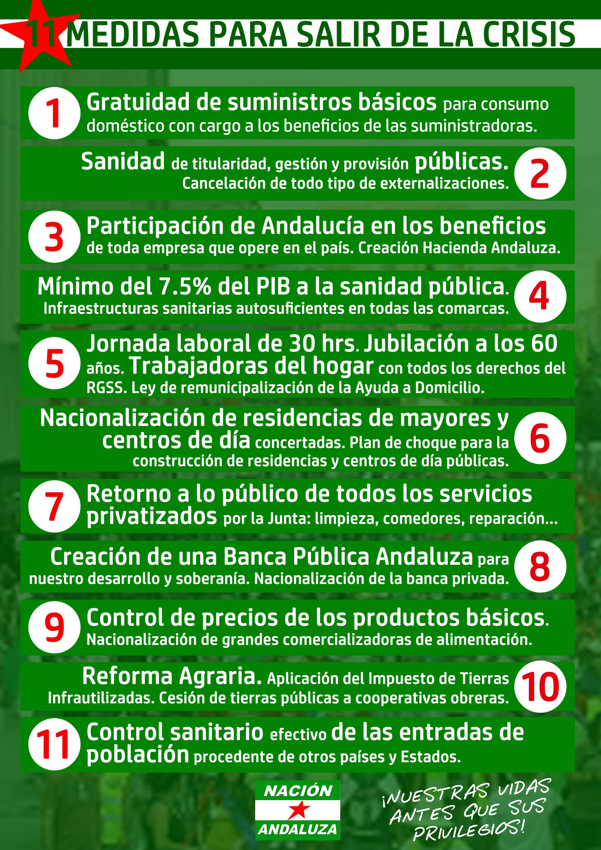 Para que la nueva crisis capitalista no la vuelva a pagar el Pueblo Trabajador Andaluz y no suframos de nuevo los estragos del Covid-19