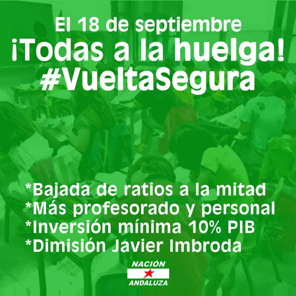 Nación Andaluza apoyo huelga educación 18S