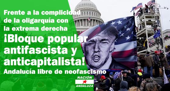 Nación Andaluza ante el asalto al capitolio estadounidense. Nota de urgencia.