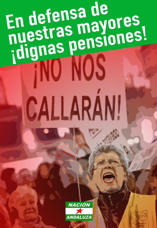 Nación Andaluza ante la privatización del sistema de pensiones de Escrivá En defensa de nuestras mayores ¡dignas pensiones!