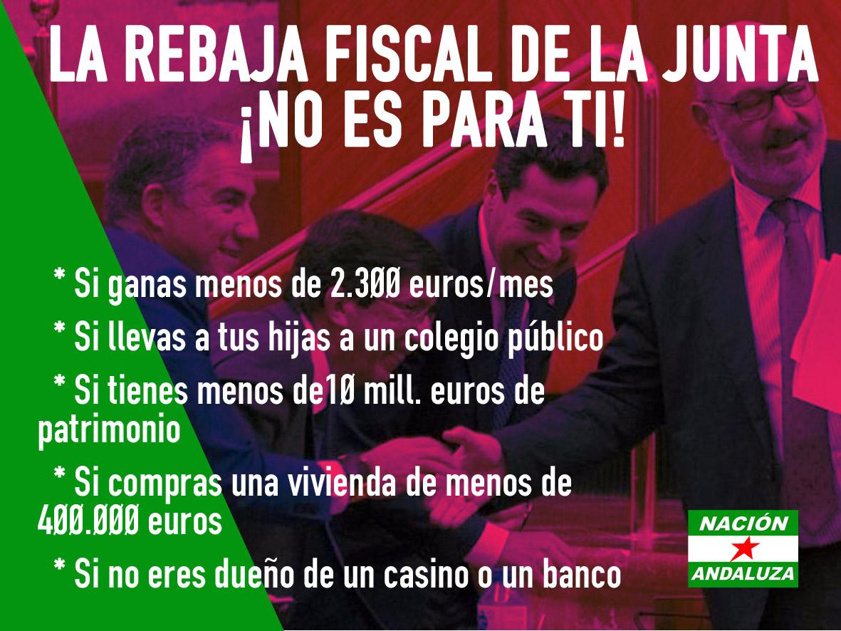 Ante la rebaja de impuestos de la Junta para aquellas que más tienen ¡Andalucía no está en venta!
