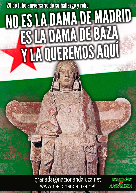 Nación Andaluza ante el 50º aniversario del hallazgo y usurpación de la Dama de Baza NO ES LA DAMA DE MADRID, ES LA DAMA DE BAZA Y LA QUEREMOS AQUÍ