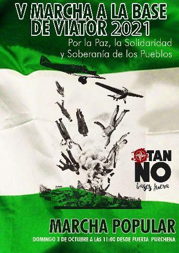 Nación Andaluza llama a participar en la V Marcha contra la base militar de Viator ¡Ni yankis ni españolas, bases fuera!